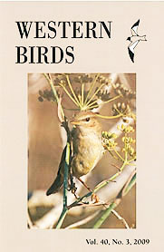 Western Birds 40(3) Front Cover