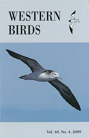 Western Birds 40(4) Front Cover