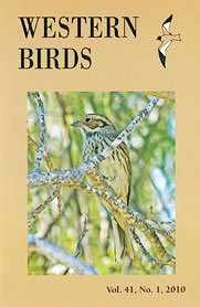 Western Birds 41(1) Front Cover