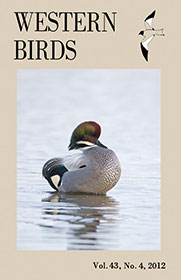 Western Birds 43(4) Front Cover