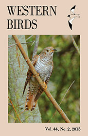 Western Birds 44(2) Front Cover